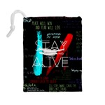 Twenty One Pilots Stay Alive Song Lyrics Quotes Drawstring Pouches (Large)  Back