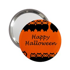 Happy Halloween - owls 2.25  Handbag Mirrors