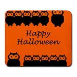 Happy Halloween - owls Large Mousepads Front