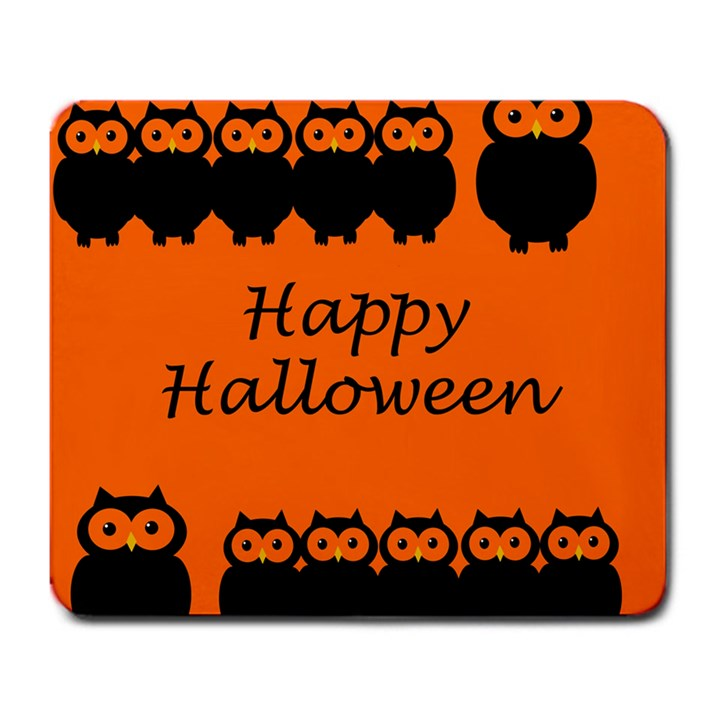 Happy Halloween - owls Large Mousepads