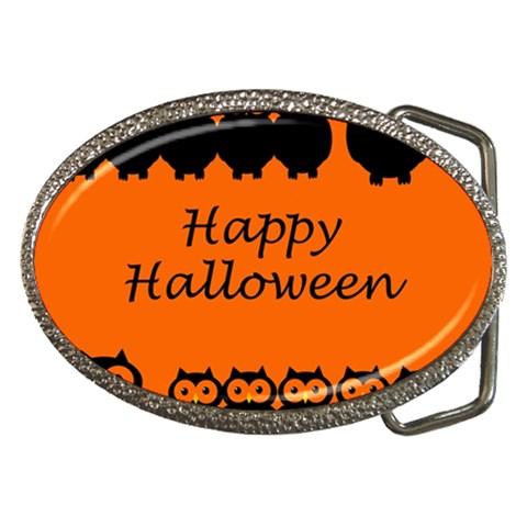 Happy Halloween - owls Belt Buckles