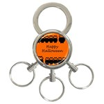 Happy Halloween - owls 3-Ring Key Chains Front