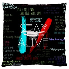 Twenty One Pilots Stay Alive Song Lyrics Quotes Large Flano Cushion Case (One Side)