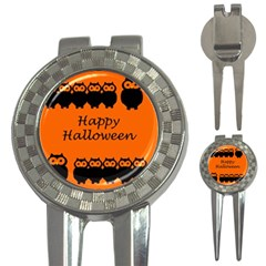 Happy Halloween   Owls 3 In 1 Golf Divots