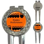 Happy Halloween - owls 3-in-1 Golf Divots Front
