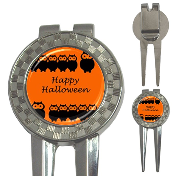 Happy Halloween - owls 3-in-1 Golf Divots