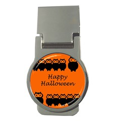 Happy Halloween   Owls Money Clips (round)