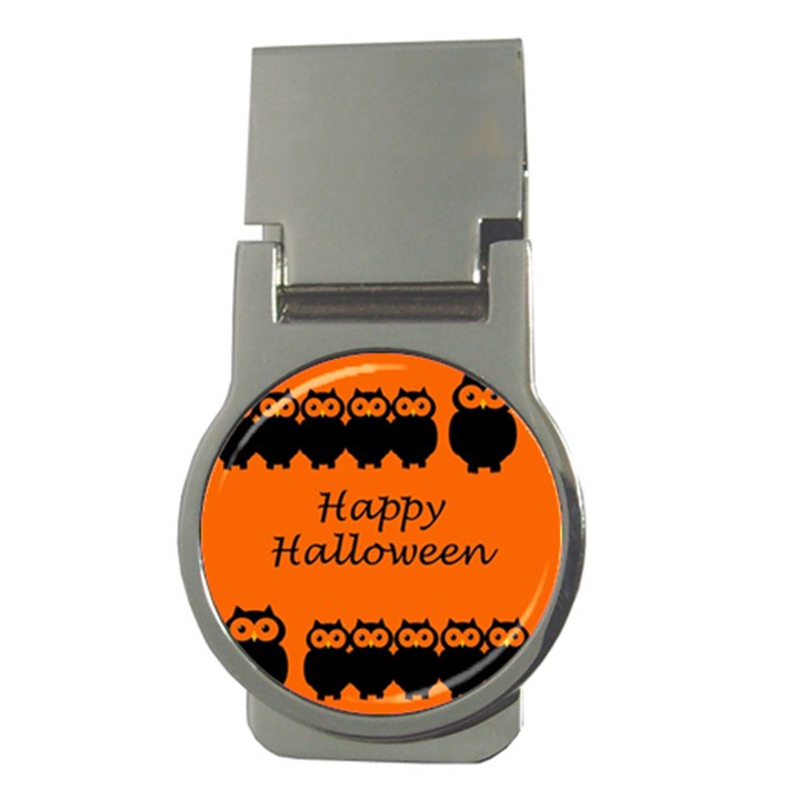 Happy Halloween - owls Money Clips (Round)