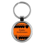 Happy Halloween - owls Key Chains (Round)  Front