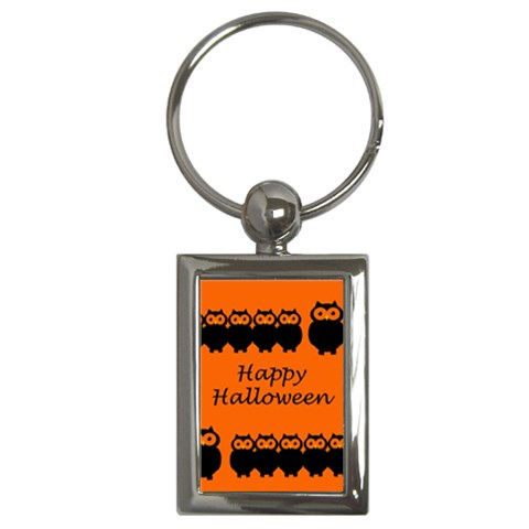 Happy Halloween - owls Key Chains (Rectangle)