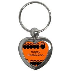 Happy Halloween - owls Key Chains (Heart)