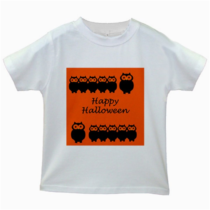 Happy Halloween - owls Kids White T-Shirts