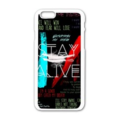 Twenty One Pilots Stay Alive Song Lyrics Quotes Apple Iphone 6/6s White Enamel Case