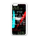 Twenty One Pilots Stay Alive Song Lyrics Quotes Apple iPhone 6/6S White Enamel Case Front