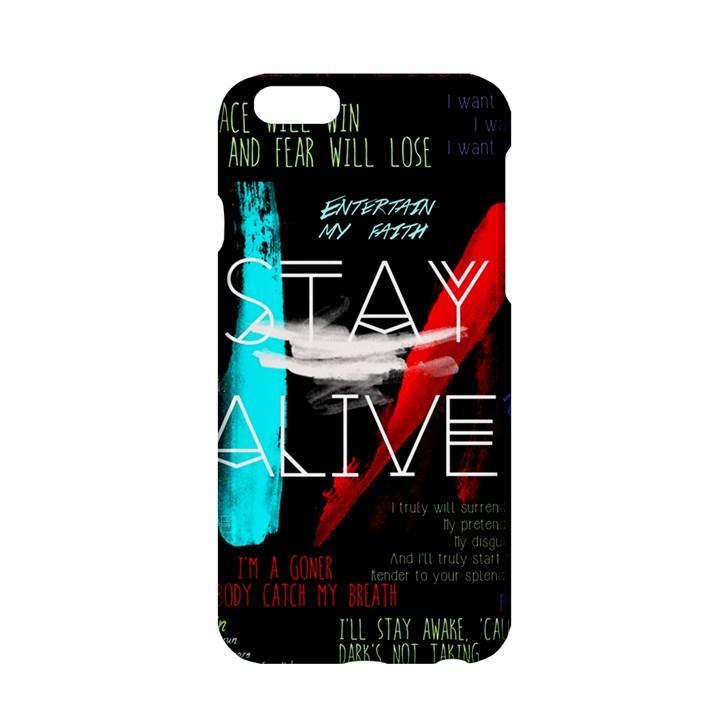 Twenty One Pilots Stay Alive Song Lyrics Quotes Apple iPhone 6/6S Hardshell Case