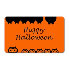 Happy Halloween   Owls Magnet (rectangular)