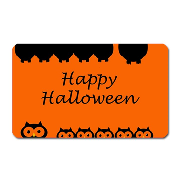 Happy Halloween - owls Magnet (Rectangular)