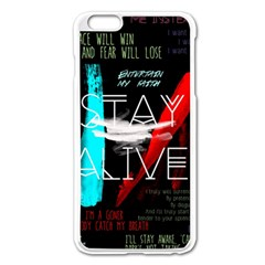 Twenty One Pilots Stay Alive Song Lyrics Quotes Apple Iphone 6 Plus/6s Plus Enamel White Case