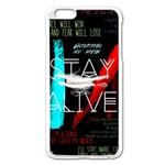 Twenty One Pilots Stay Alive Song Lyrics Quotes Apple iPhone 6 Plus/6S Plus Enamel White Case Front