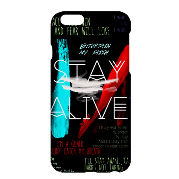 Twenty One Pilots Stay Alive Song Lyrics Quotes Apple iPhone 6 Plus/6S Plus Hardshell Case