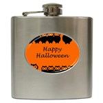 Happy Halloween - owls Hip Flask (6 oz) Front