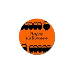 Happy Halloween - owls Golf Ball Marker