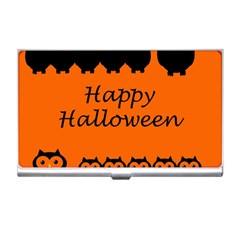 Happy Halloween   Owls Business Card Holders
