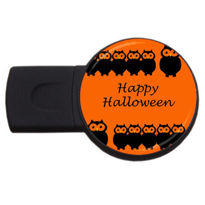 Happy Halloween - owls USB Flash Drive Round (2 GB)