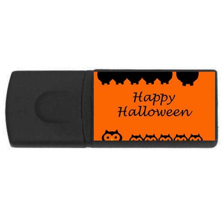 Happy Halloween - owls USB Flash Drive Rectangular (2 GB)