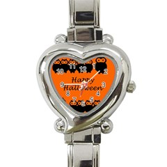 Happy Halloween   Owls Heart Italian Charm Watch