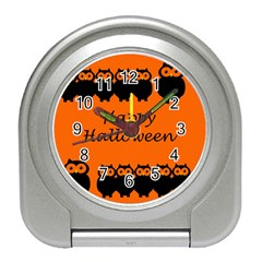 Happy Halloween - owls Travel Alarm Clocks