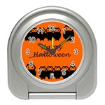 Happy Halloween - owls Travel Alarm Clocks Front
