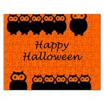Happy Halloween - owls Rectangular Jigsaw Puzzl Front