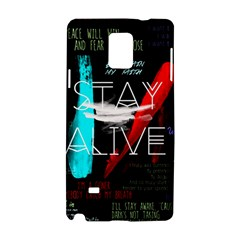 Twenty One Pilots Stay Alive Song Lyrics Quotes Samsung Galaxy Note 4 Hardshell Case