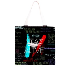 Twenty One Pilots Stay Alive Song Lyrics Quotes Grocery Light Tote Bag