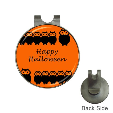 Happy Halloween - owls Hat Clips with Golf Markers
