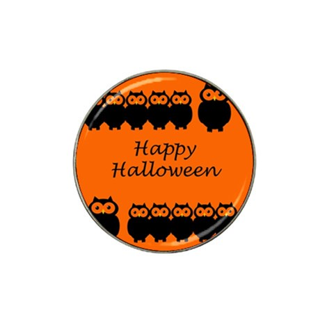 Happy Halloween - owls Hat Clip Ball Marker