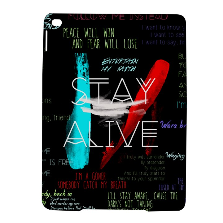 Twenty One Pilots Stay Alive Song Lyrics Quotes iPad Air 2 Hardshell Cases