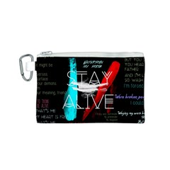 Twenty One Pilots Stay Alive Song Lyrics Quotes Canvas Cosmetic Bag (S)