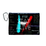 Twenty One Pilots Stay Alive Song Lyrics Quotes Canvas Cosmetic Bag (M) Front