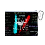 Twenty One Pilots Stay Alive Song Lyrics Quotes Canvas Cosmetic Bag (L) Back