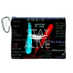 Twenty One Pilots Stay Alive Song Lyrics Quotes Canvas Cosmetic Bag (XL)