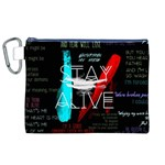Twenty One Pilots Stay Alive Song Lyrics Quotes Canvas Cosmetic Bag (XL) Front