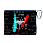Twenty One Pilots Stay Alive Song Lyrics Quotes Canvas Cosmetic Bag (XL) Back