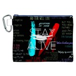 Twenty One Pilots Stay Alive Song Lyrics Quotes Canvas Cosmetic Bag (XXL) Front