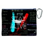 Twenty One Pilots Stay Alive Song Lyrics Quotes Canvas Cosmetic Bag (XXL) Back