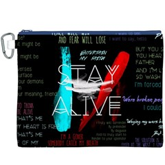 Twenty One Pilots Stay Alive Song Lyrics Quotes Canvas Cosmetic Bag (XXXL)