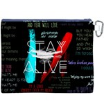 Twenty One Pilots Stay Alive Song Lyrics Quotes Canvas Cosmetic Bag (XXXL) Back