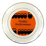 Happy Halloween - owls Porcelain Plates Front