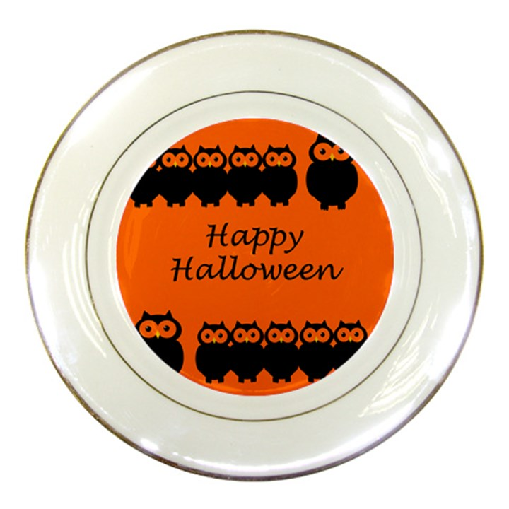 Happy Halloween - owls Porcelain Plates